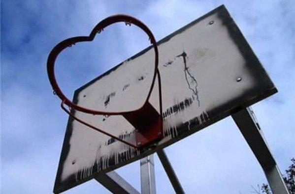 love basket (canestro con il cuore)